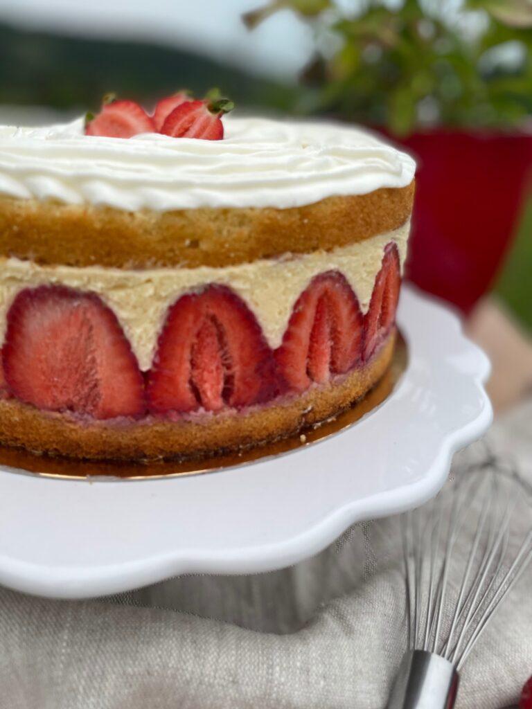 jahodový dort Fraisier